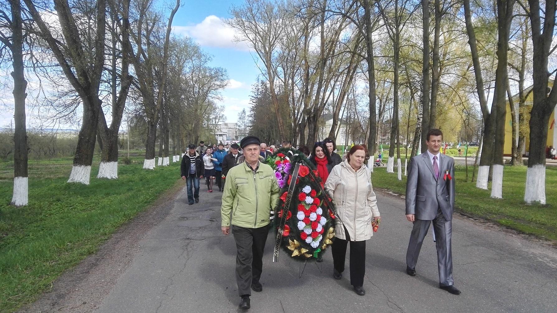 Участие в торжественных мероприятиях посвященных 72-й годовщине Победы в Великой Отечественной войне