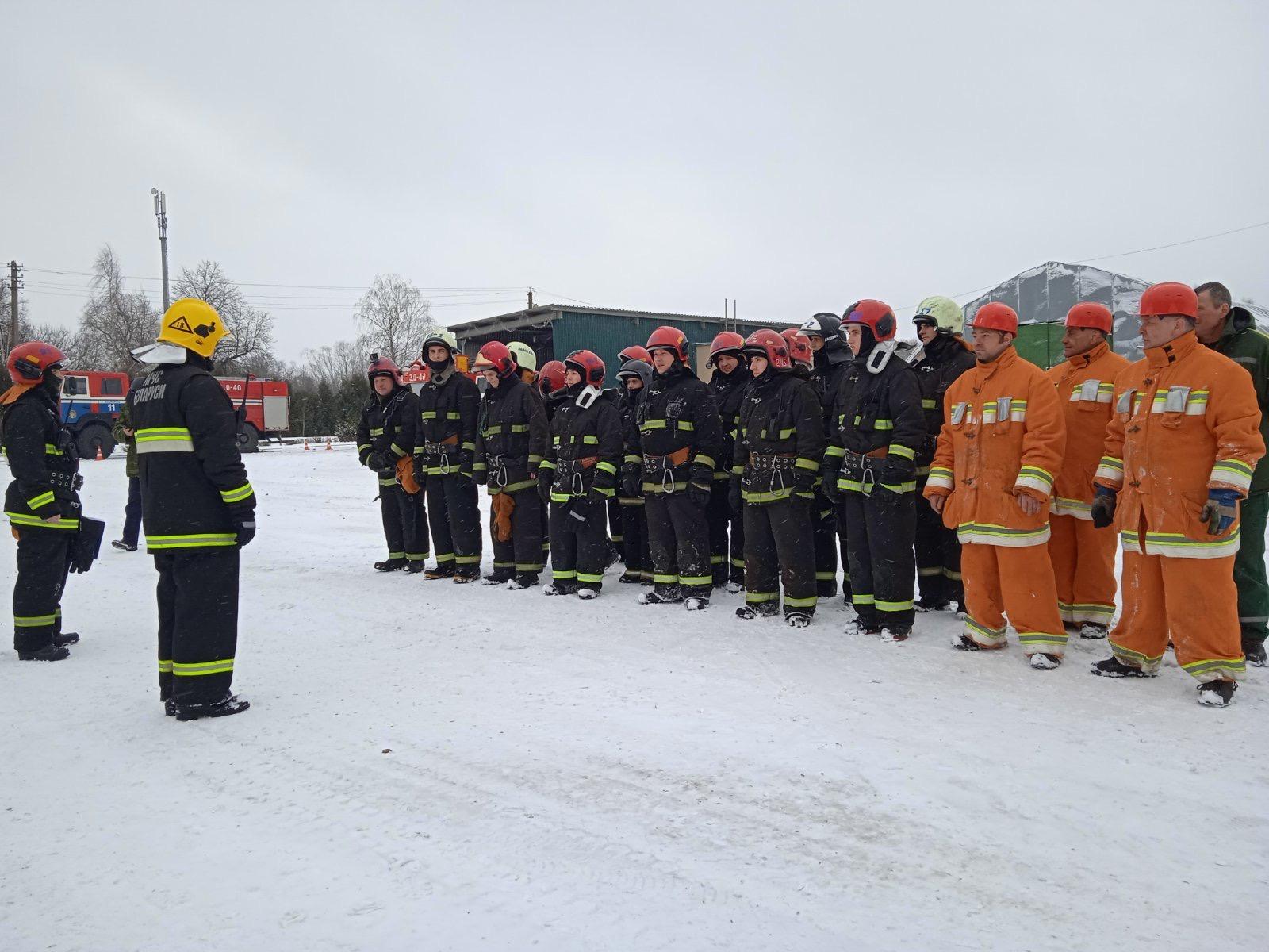 Совместная противопожарная тренировка